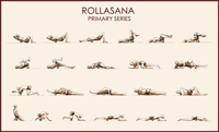 Rollasana Foam Rolling Exercise Instruction Poster