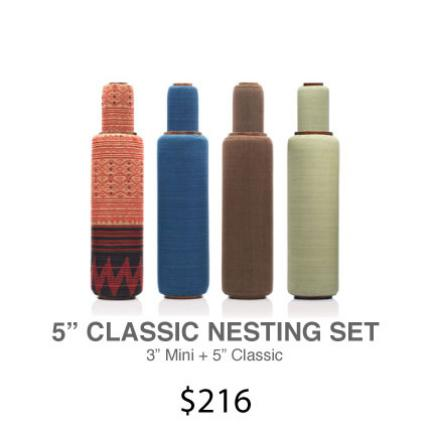 "Lanna Roller Natural Foam Rollers - 5"" Classic Nesting Set 