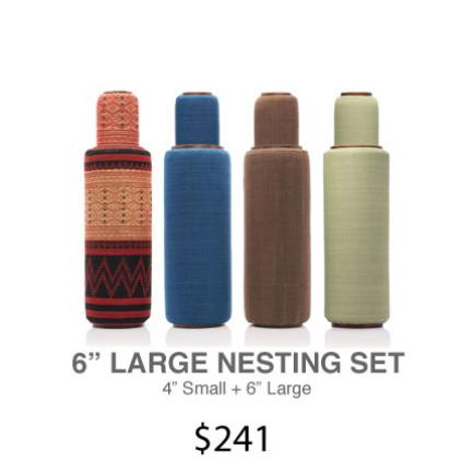 "Lanna Roller Natural Foam Rollers - 6"" Large Nesting Set 